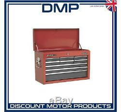 Topchest 9 Drawer with Ball Bearing Slides Red/Grey
