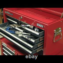 Topchest 9 Drawer with Ball Bearing Slides Red/Grey Sealey AP22509BB