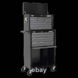 Topchest & Rollcab Combination 13 Drawer with Ball Bearing Slides Black/Grey